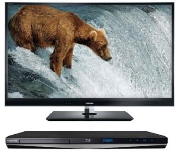3D LED-Backlight Fernseher Toshiba 42WL863G + Blu-ray-Player für 700 €