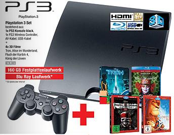 Metro Österreich: PlayStation 3 Slim (160 GB) + 4 3D-Filme für 238,80 €