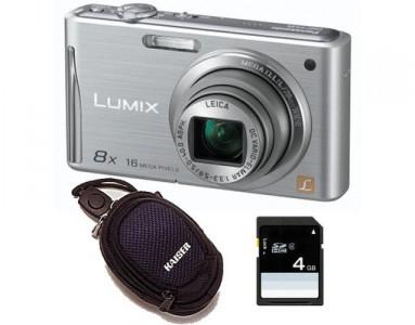 Digitalkamera Panasonic Lumix DMC-FS35 + Tasche + 4 GB Speicher für 110 € - 13% Ersparnis