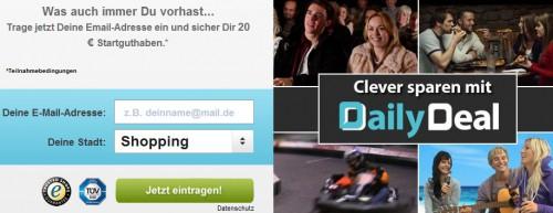 DailyDeal: 20 € Gutschein für Neu- und Bestandskunden mit 40 € MBW