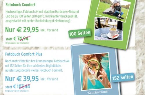 Hardcover-Fotobuch mit bis zu 100 Seiten für 29,95 € oder bis zu 152 Seiten für 39,95 €
