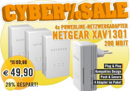 4er-Set Netgear Powerline AV 200 Netzwerkadapter für 49,90 - 29% Ersparnis