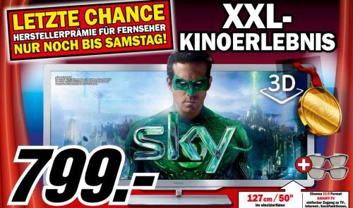 Kracher: Philips 50PFL7956K (3D, Ambilight, 21:9-Format) für 799 € *Update* jetzt für 999 € bei Cyberport