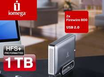 Externe Festplatte (1 TB, USB 2.0, FireWire) Iomega eGo für 76 €