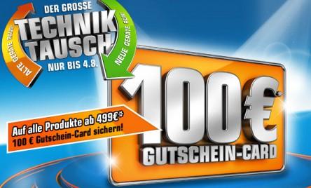 """""""Der große Techniktausch"""" bei Saturn - 100 € Gutschein ab 499 € Einkauf - z.B. iPad 3 (32 GB, WiFi) für 454 €"""