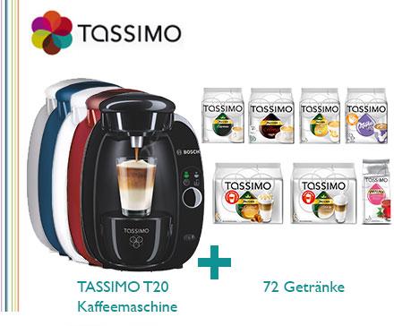 Tassimo T20 inklusive 72 Getränke für 39 Euro