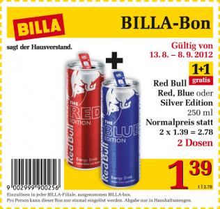Red Bull Edition Gutschein für BILLA - 0,69€ pro Dose