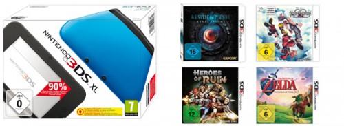 Amazon: Nintendo 3DS XL kaufen und 26,99 € Rabatt auf ausgewählte Spiele bekommen
