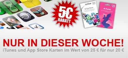 iTunes-Karten mit bis zu 20% Rabatt bei der Post, REWE und GameStop *Update* jetzt auch bei der Telekom