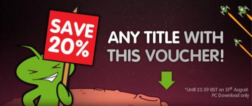 20% Rabatt auf alle Spiele bei Green Man Gaming - mit Gutschein