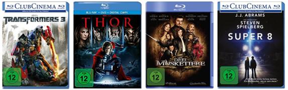Filmschnäppchen bei Amazon - z.B. 4 DVDs für 20 € oder 3 Blu-rays für 25 €