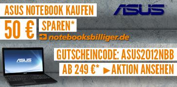 50 € Sofortrabatt auf Asus-Notebooks bei Notebooksbilliger