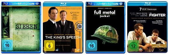 Filmangebote bei Amazon - 5 Filme auf DVD für 20 € oder Blu-rays für je 8,97 €