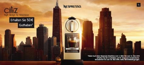 Sehr günstige Nespresso-Maschinen, dank Cashback-Aktion