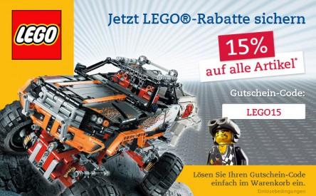 15% Rabatt auf Lego-Artikel bei Thalia Deutschland