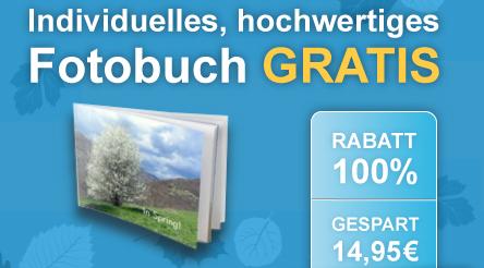 Softcover-Fotobuch (15 x 20 cm) mit 26 Seiten für 0,00 € + 4,95 € Versand