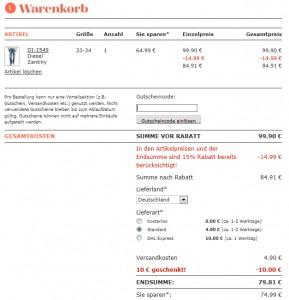 Dress for Less: 15% Rabatt auf (fast) das gesamte Sortiment und zusätzlich 10 € sparen mit Gutschein