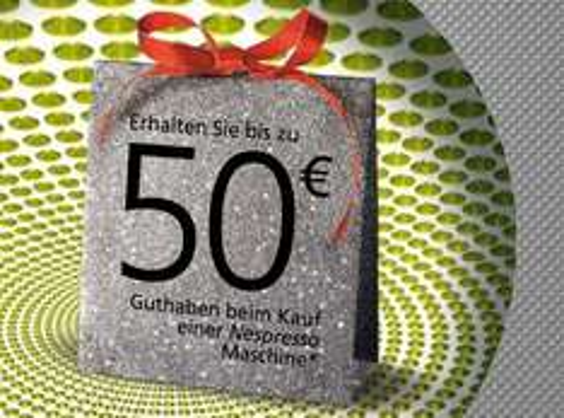 Ab 19. Oktober: 50 Euro Cashback beim Kauf einer neuen Nespresso Maschine!