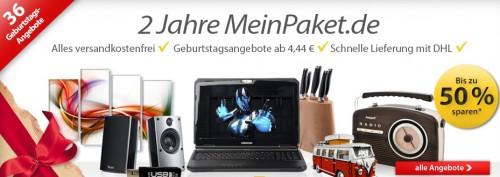 2 Jahre MeinPaket - Geburtstagsartikel im Schnäppchencheck