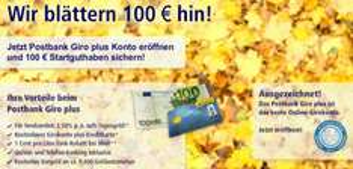 Top! Postbank Happy Hour – Girokonto für Neukunden mit 100 € Startguthaben