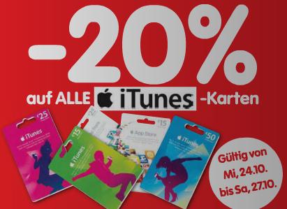 Interspar: 20% Rabatt auf alle iTunes-Karten - bis Samstag *Update* jetzt wieder gültig!