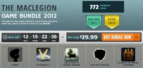 MacLegion Game Bundle 2012 - Bis zu 6 Mac-Spiele für 23,17 € kaufen statt 123,82 €