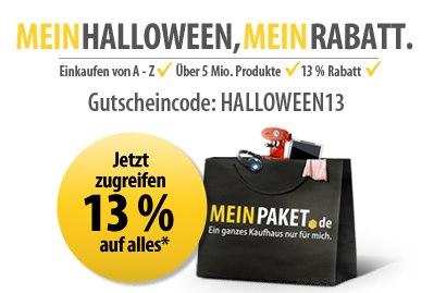 MeinPaket: 13% Gutschein für das gesamte Sortiment - nur heute