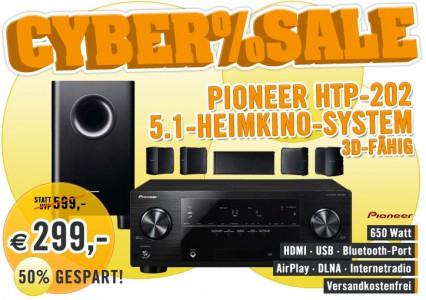 Top! 3D-fähiges Heimkinosystem Pioneer HTP-202 für 299 € - 34% Ersparnis