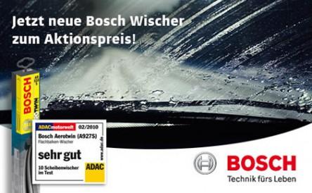 Wischer-Wochen bei Carglass: Bosch Scheibenwischer für je 14,99 €