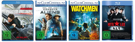 Amazon-Filmangebote - z.B. 3 Blu-rays für 25 € oder 4 DVDs für 20 €