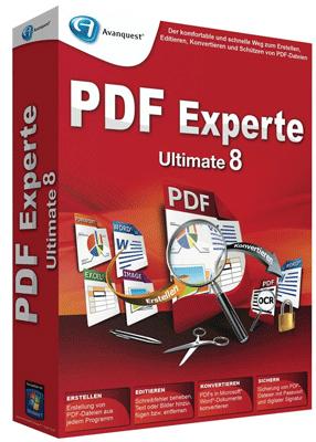 Avanquest PDF Experte 8 Ultimate kostenlos herunterladen statt 43 €