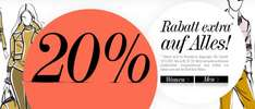 Dress for Less: 20% Rabatt auf (fast) das gesamte Sortiment