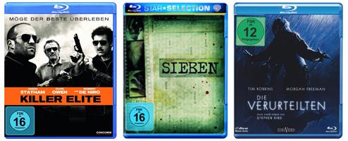 Neue Filmangebote bei Amazon - z.B. 3 DVDs für 20 € oder Crime-Serien mit bis zu 40% Rabatt