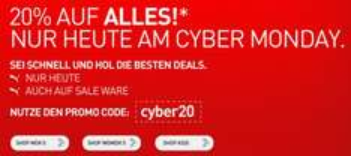 Super! 20% Rabatt auf alles im Online-Shop von Puma - auch auf Sale-Artikel