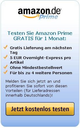 Amazon Prime für einen Monat lang gratis testen