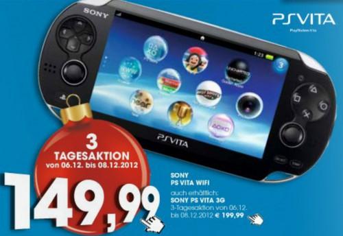 Toll! PlayStation Vita (WiFi) für 149,99 € bei Libro - 21% sparen - vom 6. bis 8. Dezember