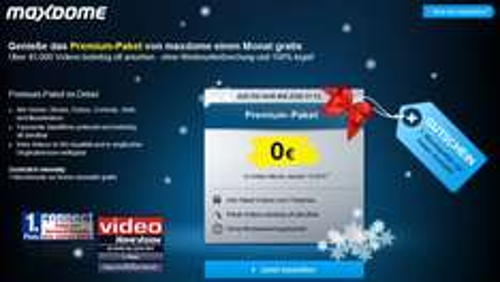 Maxdome: Premium-Paket 1 Monat kostenlos testen + Gutschein für einen Film