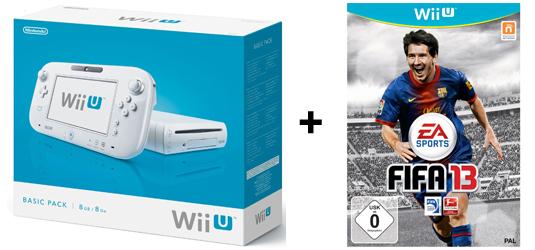 Wii U Konsolenbundles bei Amazon - z.B. Basic Pack + FIFA 13 für 308 €