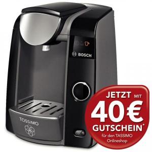 Kaffeekapselmaschine Bosch Tassimo T43 + 40 € Guthaben für 69,99 € - 25% Ersparnis