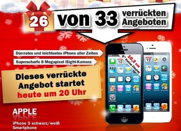 Ab 20 Uhr das iPhone 5 im Media Markt Adventskalender - Preis noch unbekannt