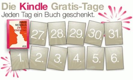 """Kindle Gratis-Tage: """"Zwei an einem Tag"""" von David Nicholls kostenlos"""