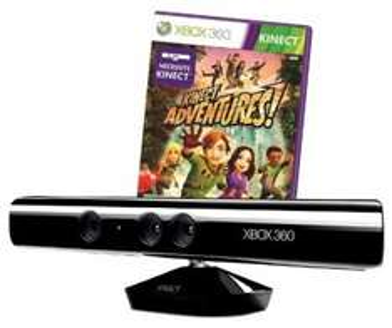 Xbox 360 Kinect Sensor + Kinect Adventures für 80,97 € - 16% Ersparnis