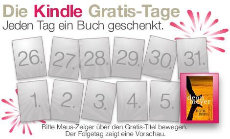 """Letzter Kindle Gratis-Tag: """"Dreizehn Stunden"""" von Deon Meyer geschenkt"""