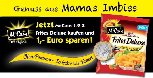 McCain 1-2-3 Frites Deluxe (Ofen-Pommes) für nur 0,11 Euro dank Gutschein! *Update*