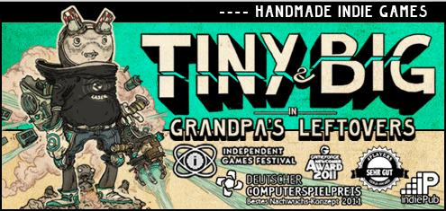 "Indie-Spiel ""Tiny & Big in Grandpa's Leftovers"" (PC, Mac, Linux) für 1,99 € statt 9,99 €"