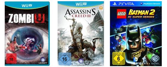 Gute Spiele-Angebote bei Saturn und Konter von Amazon - z.B. Assassin's Creed 3 für Wii U für 39,99 €