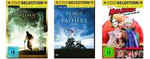Gute Filmangebote bei Amazon - z.B. 3 Blu-rays für 21 € oder 6 DVDs für 20 €