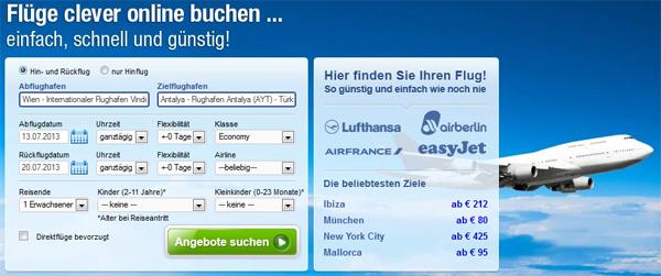 Flugschnäppchen: 1 Woche Antalya ab Wien in den Sommerferien ab 205 €