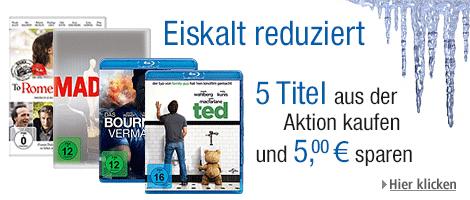 5 Tage Filmschnäppchen bei Amazon mit DVDs ab 4,97 €, Blu-rays ab 6,97 € und Box-Sets