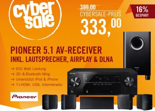 3D-Heimkinosystem Pioneer HTP-202 für 333 € bei Cyberport - 17% Ersparnis